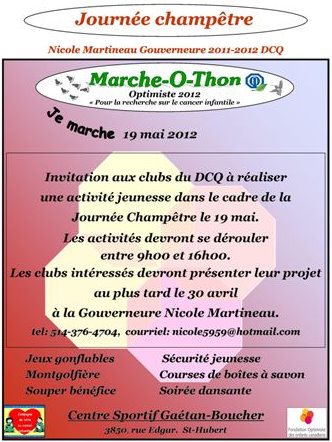 Marche-O-Thon Optimiste 2012