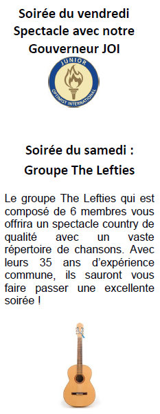 Spectacle gouverneur JOI 11 novembre - Groupe The Lefties