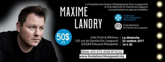 Club optimiste St-Charles de Longueuil spectacle Maxime Landry 22 octobre 2017