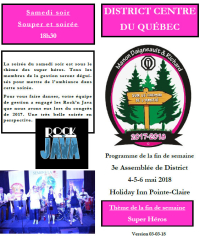 Programme 3e assemblée de District 4-5-6 mai 2018  District Centre du Québec