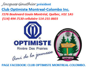 Club optimiste Montréal-Colombo Inc.
