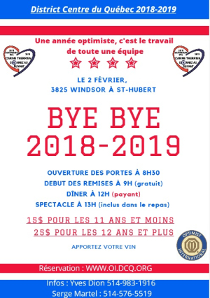 District Centre du Québec Bye Bye 2018-2019
