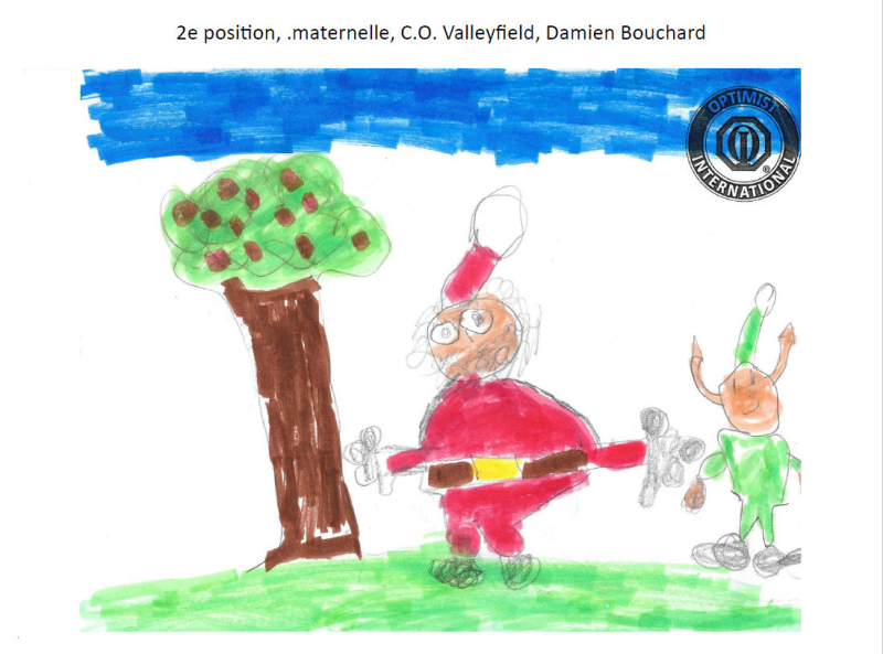 2e position  maternelle  C.O. Valleyfield  Damien Bouchard.
